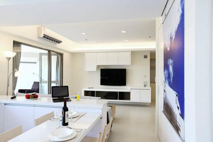 95平简约二居客厅背景墙电视墙设计效果图_5