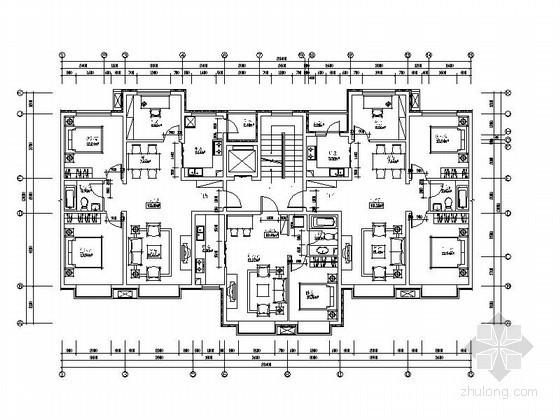 某十一层塔式高层户型图(103/60/101)