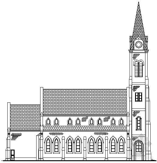 欧式古典教堂全套建筑施工图