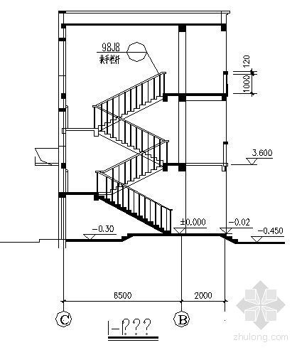 某三层教学楼建筑施工图-2