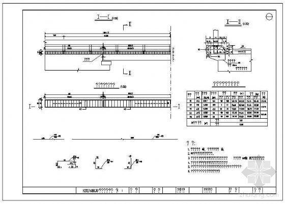 10米空心板桥U型台施工图