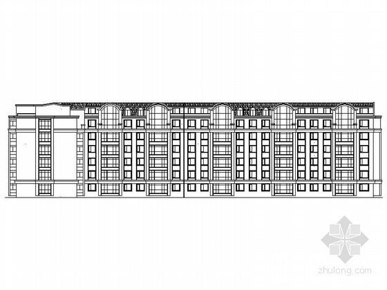 [黑龙江]某六层塔式住宅楼建筑方案图(13号)