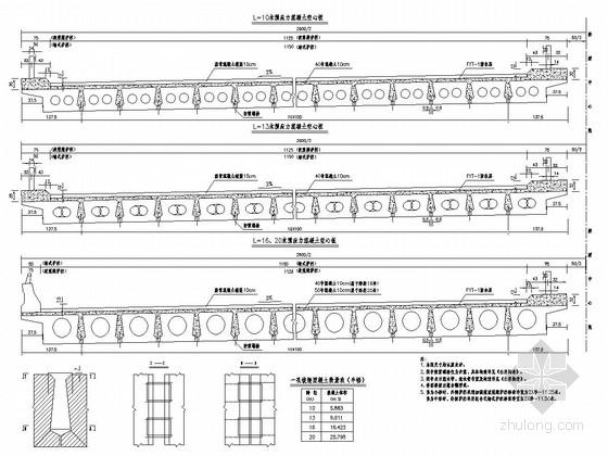 多跨径装配式预应力砼空心板通用图(25张)