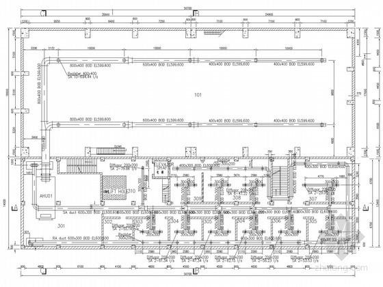 小型水电站空调通风系统全套设计施工图