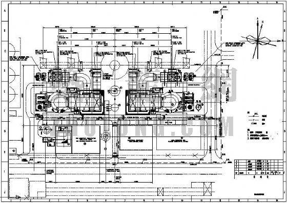 电厂脱硫雨水管道总平面布置图