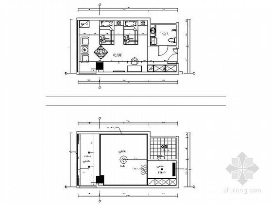 简约标准客房立面图