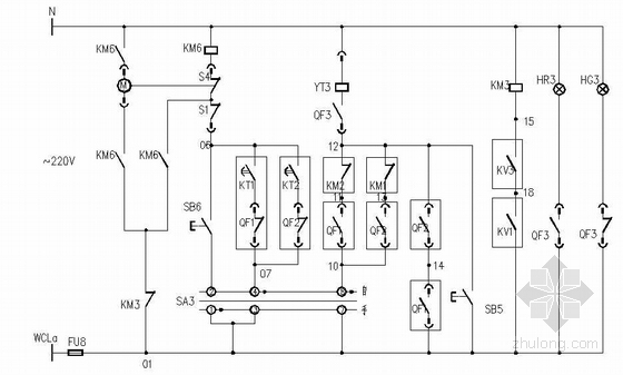 低压配电屏双电源切换控制原理图