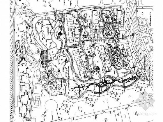 [北京]现代自然生态式园林居住小区一期景观施工图(著名景观公司)