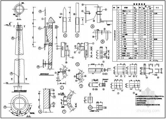 某40m砖烟囱结构设计图