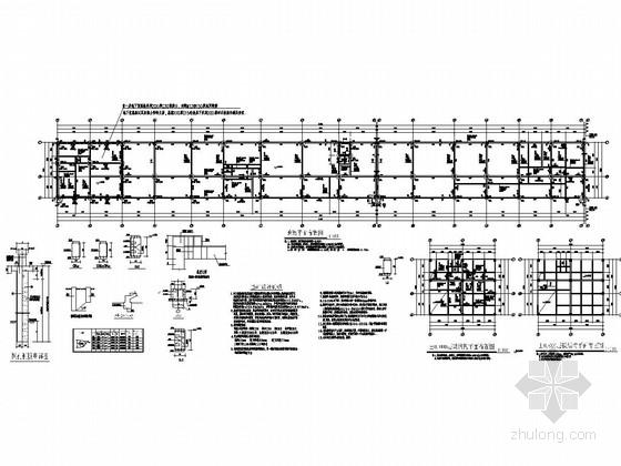 [重庆]三层框架结构工厂辅助车间及设备用房结构施工图