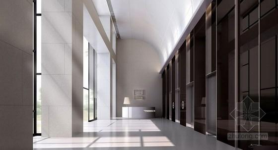 [山东]某现代中式风格办公楼室内方案图