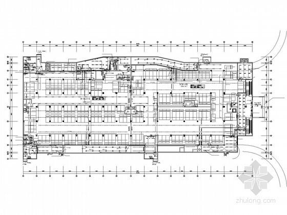 [湖南]大型地下商场强电系统施工图纸(车库 人防)