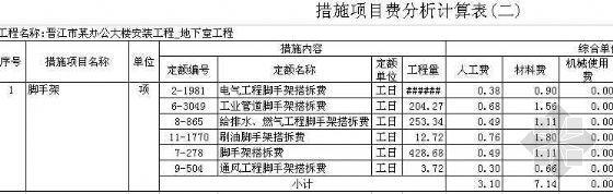 福建省某办公大楼工程清单报价(土建与安装)