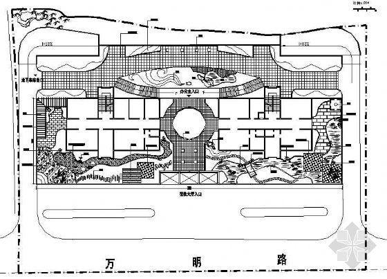 某单位屋顶花园园林设计平面图