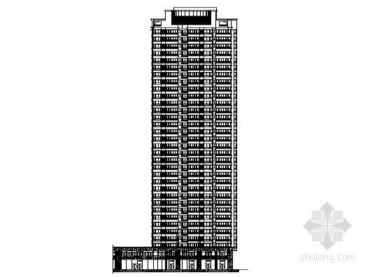 合肥某公寓商业工程5号楼裙楼外立面幕墙装饰图(含设计说明)