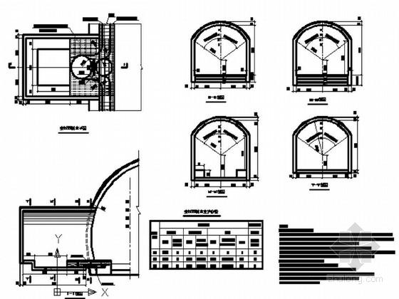 [贵州]铁路双线隧道复合式衬砌专用洞室及变压器洞室设计图