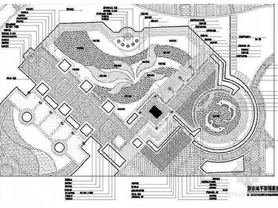 深圳某著名小区景观设计施工图