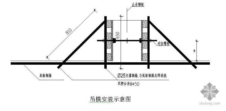 吉林某办公楼地下室模板施工方案及计算书(木胶合板)