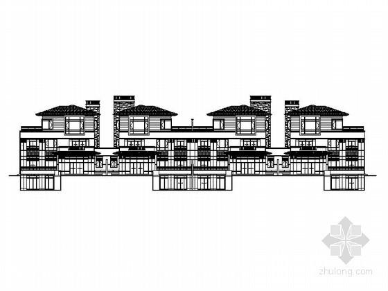 [延安]某天成别墅区5栋联排别墅建筑施工图