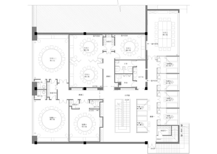 [新疆]750平米素食餐饮空间设计施工图(附效果图)