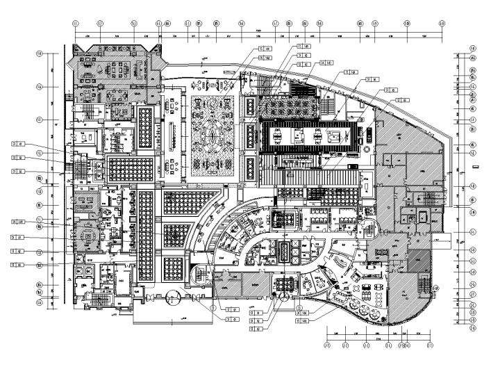 [安徽]现代简约风格餐厅室内装修施工图