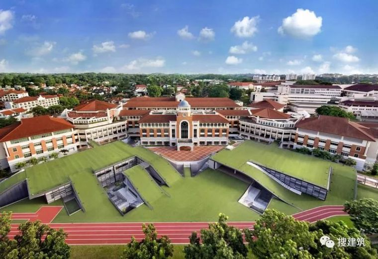 up建筑设计资料下载-新加坡最有名的中学,建筑设计的亮点!!