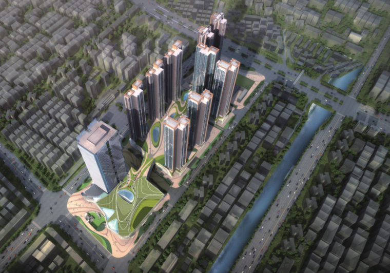 [深圳]绿色生态商业中心城市更新项目