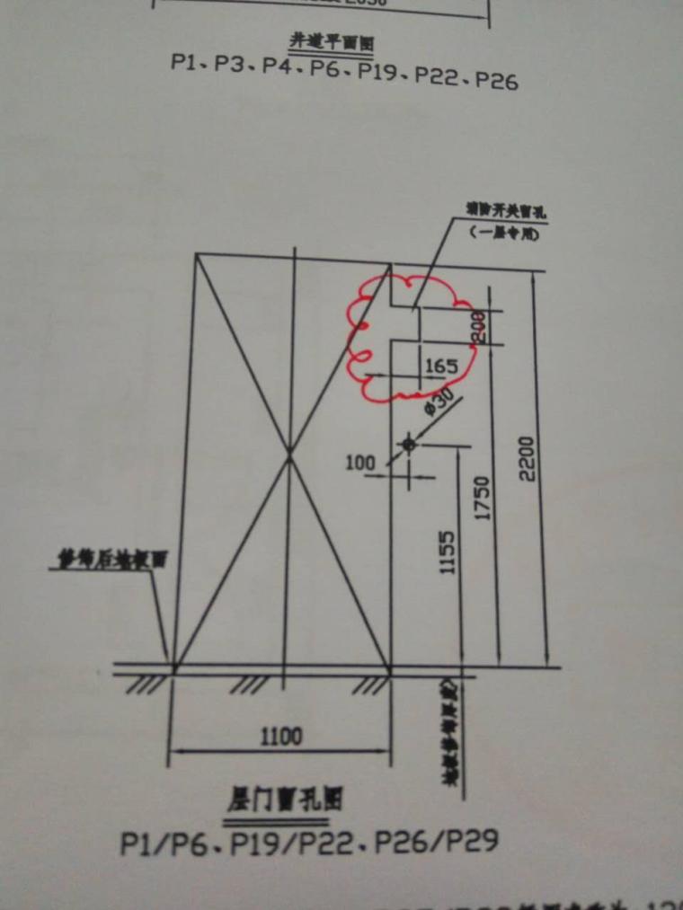 一层电梯消防按钮位置