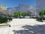 公园场景景观设计带LU渲染(su模型)