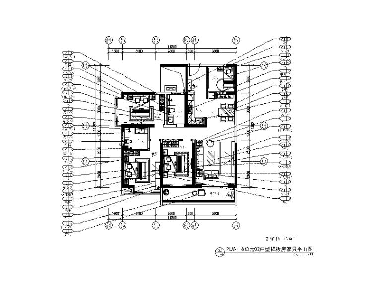 [广东]简欧风格样板房CAD施工图(含实景图)