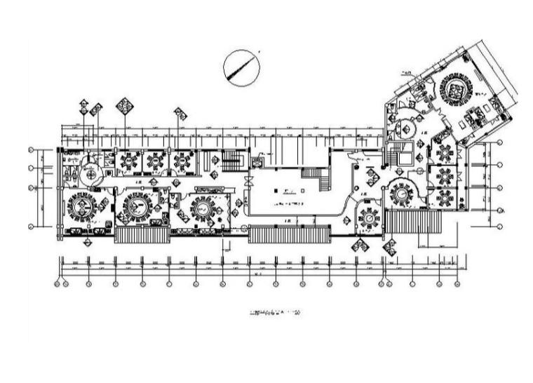 [浙江]经典中式风格餐厅室内设计施工图
