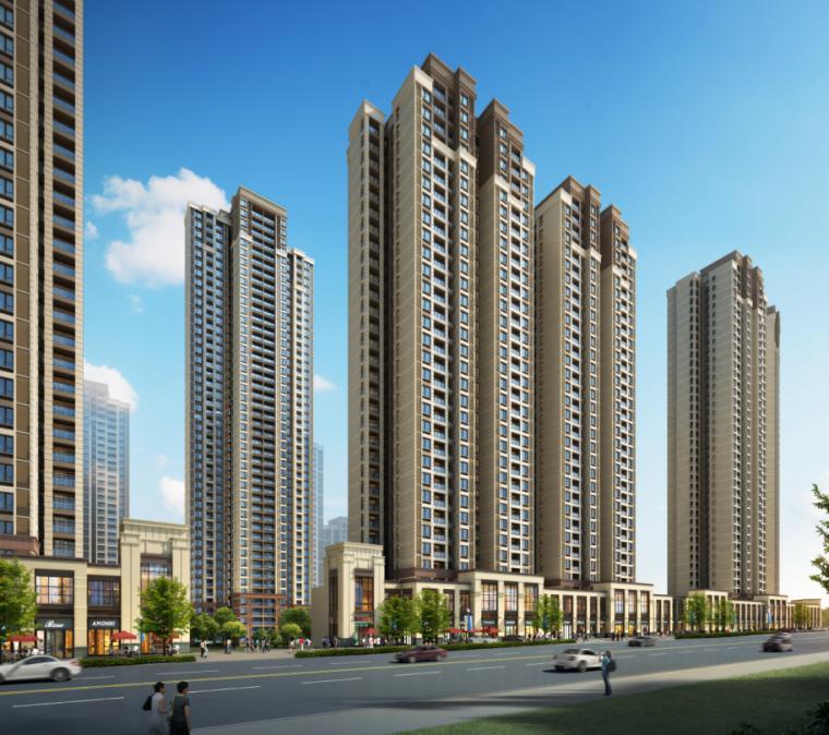 [武汉]保利高层住宅及超高层办公楼建筑方案文本(两套方案)_10
