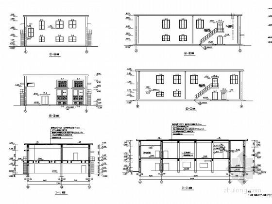 [山西]两层框架结构焦化厂201变电所建筑结构图
