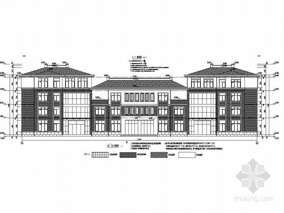 [安徽]四层框架结构教学实训楼结构施工图(含建筑图)