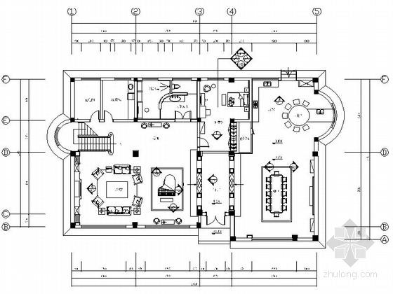 [济南]旅游中心精品商务酒店三层欧式接待别墅装修图
