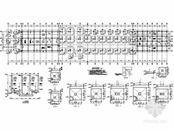 地上六层框架结构生产车间结构施工图