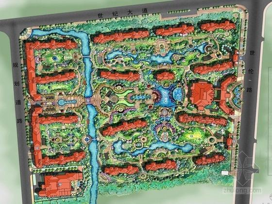 [江苏]西班牙风情居住区景观规划设计方案