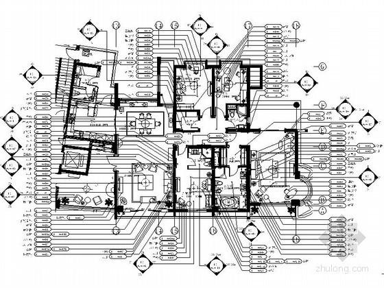 [杭州]美式四居室内装修图