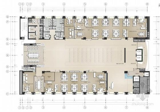 [重庆]现代风格办公楼室内设计汇报方案