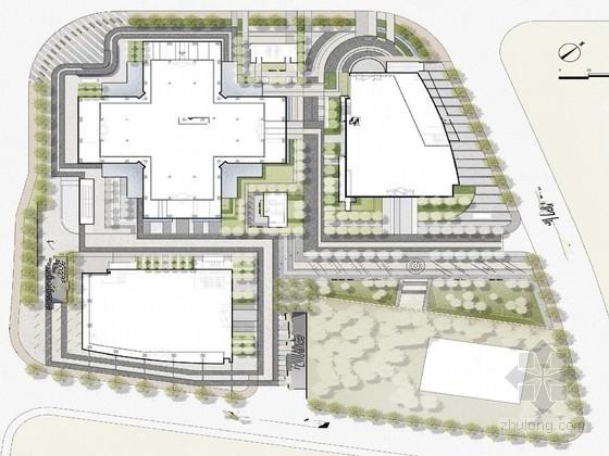 [北京]知名地产办公楼超高层项目景观概念设计方案