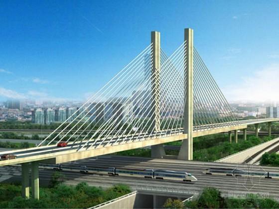 跨铁路独塔双索面预应力斜拉桥塔柱施工方案60页(爬模 翻模)
