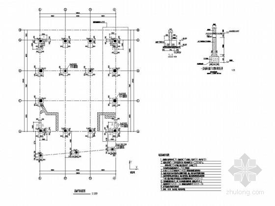 [山东]地上2层框架结构学校礼堂结构图