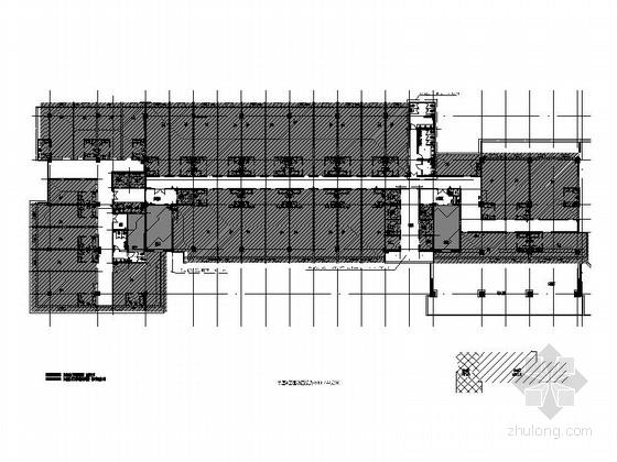 [徐州]大气时尚现代写字楼公共区域cad施工图(含效果图)