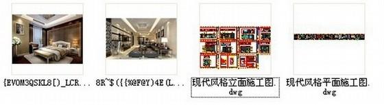 [福建]现代三居室样板房室内设计CAD施工图(含效果)资料图纸总缩略图