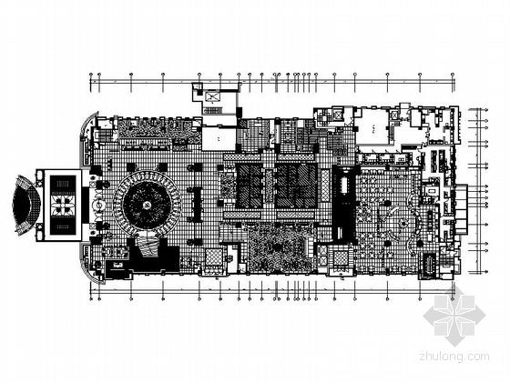 [上海]高端奢华五星级商务酒店一层公共区域室内装修施工图(含效果)