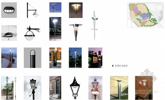 [上海]滨江英式居住区景观方案设计-景观照明意向图