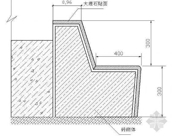 坐人树池平剖面图