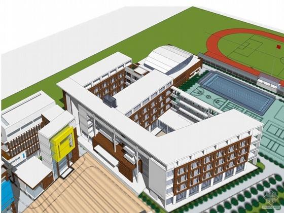 [北大]某附中武汉实验学校方案设计文本及设计CAD方案