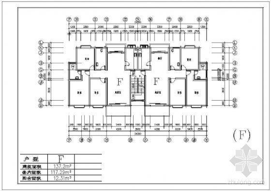 三种板式住宅户型平面(130-140平方米)