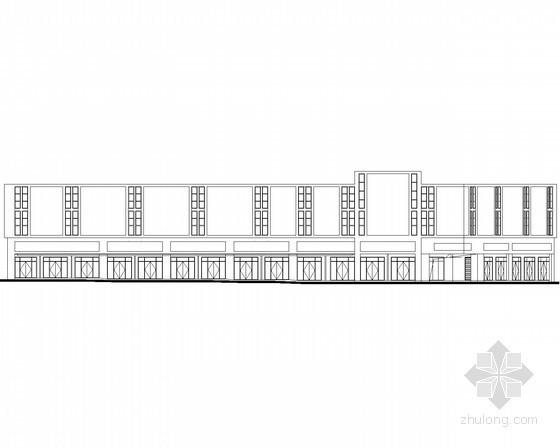 [宜昌]某商贸物流中心二层沿街商铺建筑施工图(6号楼)